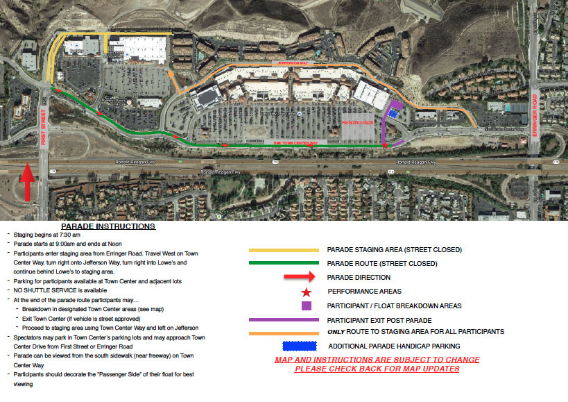 Simi Valley Days Parade Map Route